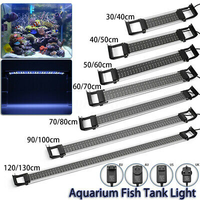 For 30-120cm Adjustable Aquarium 2835 LED Fish Tank Light Bar Lamp Bule White