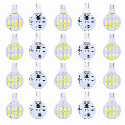 20Pc/Set T10/921/194 24SMD LED Super White Interior Lights Bulbs for RV Trailers