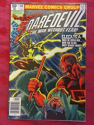 Daredevil #168,1st app. of ELECTRA!  Very High Grade!!!!! LOOK!!!! possible 9.8?