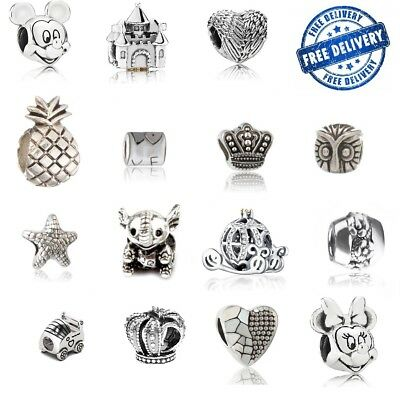Genuine Alloy Sterling Silver Charm Bead Fit European Bracelet Plated 925 Alloy