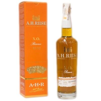 A.H. Riise X.O. Reserve Rum + GB 700ml 40% Vol.