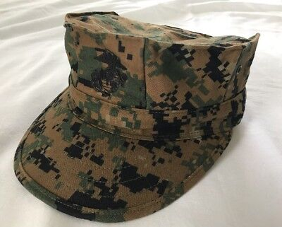 Usmc Marpat Woodland Digital Camo Cover Garrison 8 Point Hat Small