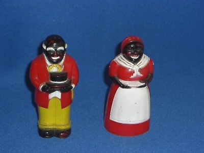 Vintage Aunt Jemima and Uncle Mose Salt and Pepper Shakers  F & F Mold Co.