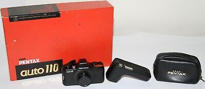 Pentax Auto 110 With Winder, Case & Box Working Condition