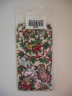 Set of 2 Longaberger 12 Days of Christmas Napkins NEW in Package