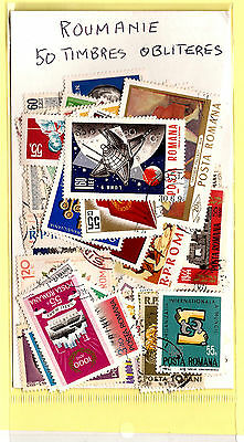 ROMANIA 50 stamps obliterated all different,obliterated, in good condition K50