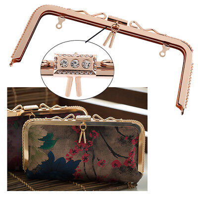 DIY Purse Handles Clasp Sew In Bag Frame HandBag Making Supplies 23.5cm