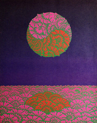 Victor Moscoso 1967 Psychedelic Poster Show at Neiman Marcus Neon Rose B2 Hippie