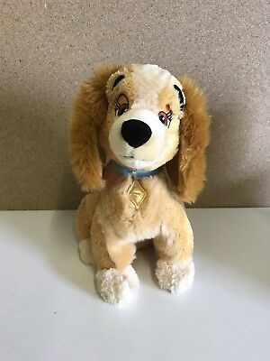 """Disney Store Lady And The Tramp Large Soft Plush Toy 14"""" Excellent Condition"""