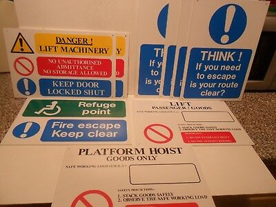 Fantastic  Job Lot Of Quality Ridged Plastic Health And Safety Signs