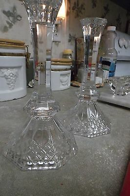 Elegant Pair of Crystal Candlestick holders