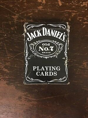 Jack Daniel's Old No 7 Brand Whiskey Poker Playing Cards Bicycle