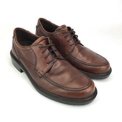 Ecco Derby Shoes Sz 6-6.5 Men s Brown Leather Casual Lace Up Arch Support EU f31f9ef6ff2c7