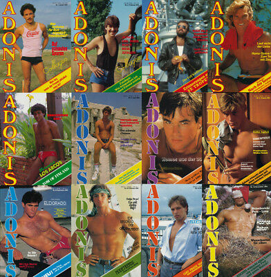 Gay interest magazines german vintage ADONIS 1984 complete 12 issues