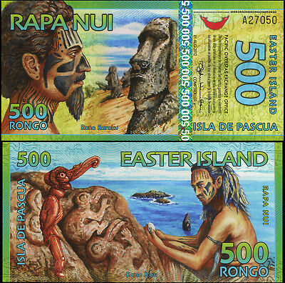 Easter Island. 500 rongo. 2012 (Unc. Polymer) Banknote Cat# P.NL