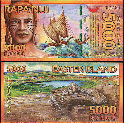 Easter Island. 5000 rongo. 2012 (Unc. Polymer) Banknote Cat# P.NL
