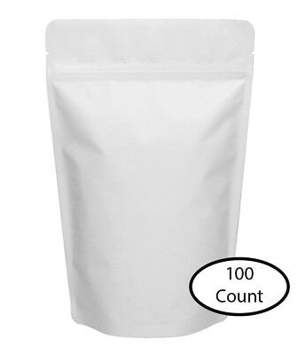 """100 Count Stand Up Pouches (Bags) ZipLock 6"""" x 9"""" Resealable Top Fill Pouch"""