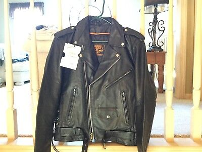 1f92e45411f Milwaukee Leather Men s Classic Side Lace Riding Motorcycle Jacket - SH1011