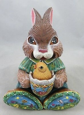 G. DeBrekht - Spring Chorus - Easter Surprise Series - Bunny with Chick Figurine