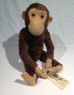 """SCHUCO MECHANICAL """"TRICKY"""" YES NO MONKEY 19 1/2"""" LONG, GERMAN, 1950's or earlier"""