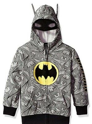 Batman Kids DC Comics Full-Zip Licensed Costume Hoodie with Mask Sz 4 NWT $42