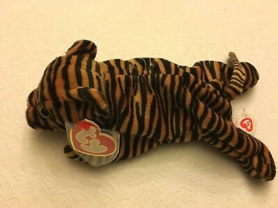 Authentic 100% - Ty Beanie Baby Rare Vintage Stripes 3rd Hang/2nd Gen Tush Tag!