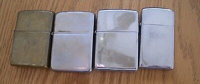 Lot Of 4 Vintage Zippo Lighters