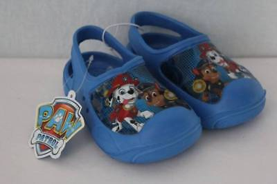 NEW Toddler Boys Paw Patrol Water Shoes Medium 7 - 8 Sandals Clogs Fire Dog Cop
