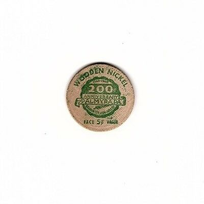 200th Anniversary Palmyra, PA Wooden Nickel from 1960