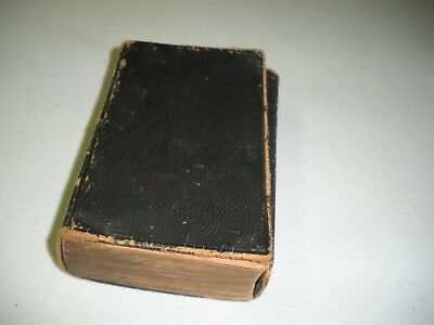 Leather Bound Christian Bible1868 Old & New Testament American Bible Society N.Y