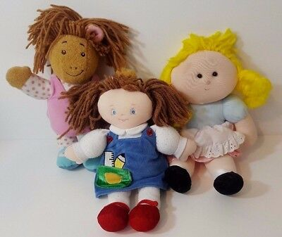 "Vintage Doll Lot Rolleno Playskool 10"" 1996 Tora Baby Gund 58645 Julie Fast Ship"