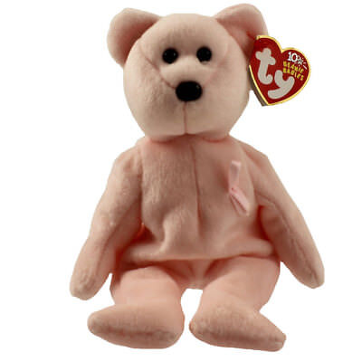 TY Beanie Baby - CURE the Pink Bear (Breast Cancer Awareness Bear) (9 inch) MWMT
