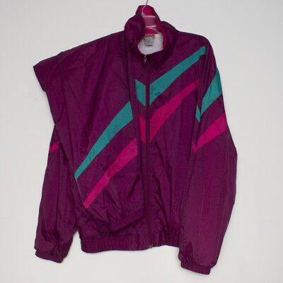 Vtg 80s 90s Track Suit Warm Up Athletic Works Nylon Color Block Jacket and Pants