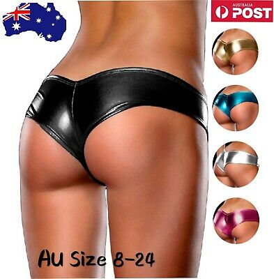 Panty Woman's Metallic Hipsters Briefs Sexy Underwear Lingerie Plus Size 8-24