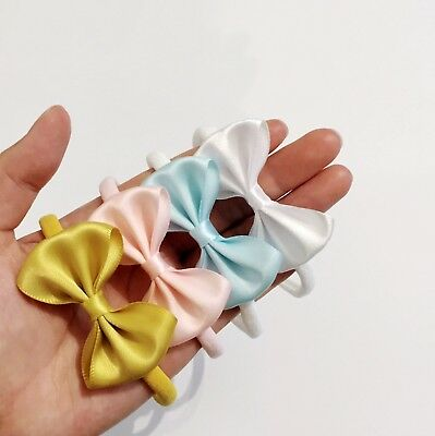 New!Satin Ribbon Signature Bow Headband Newborn Bow Headband Baby Headband