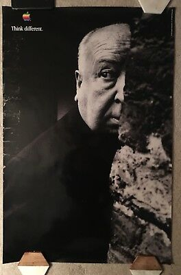 APPLE POSTER THINK DIFFERENT : ALFRED HITCHCOCK : 36x24 inches : NEAR MINT