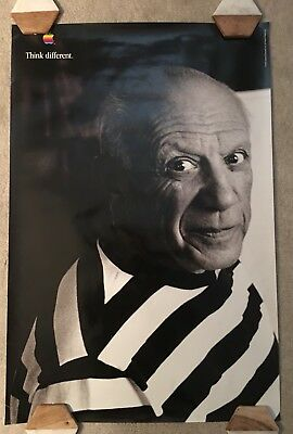 APPLE POSTER THINK DIFFERENT : PABLO PICASSO : 36x24 inches
