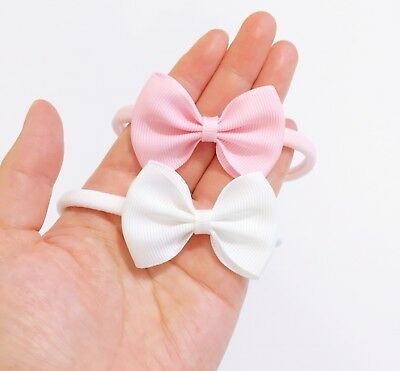 New! Grosgrain Ribbon Signature Bow Newborn Bow Headband Baby Headband