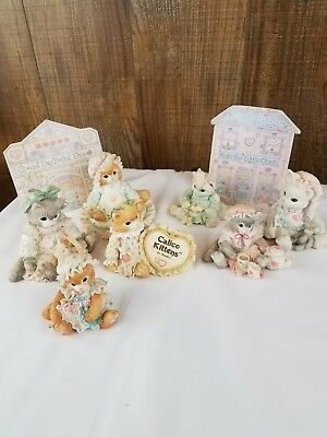 Calico Kittens lot of 7 by ENESCO Your Friendship is my Silver Lining and more..