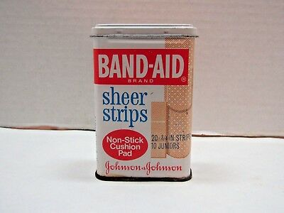Vintage Band-Aid Sheer Strips Metal Container