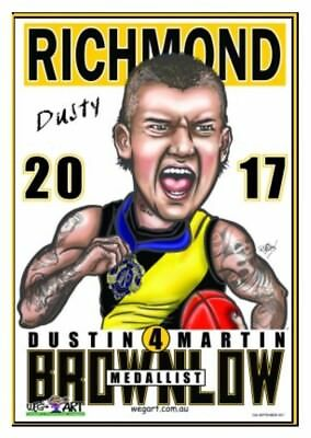 2017 Richmond Tigers WEG Wegart  Dusty Martin Brownlow Poster