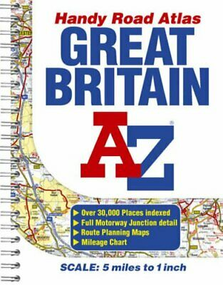 Great Britain Handy Road Atlas by Author, No Paperback Book The Cheap Fast Free
