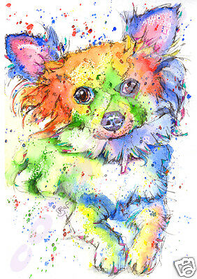 CHIHUAHUA Dog PRINT from an Original Watercolour Painting Picture by JOSIE P
