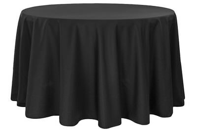 "Lot of 10 - 120"" Round, 100% Poly Tablecloths / Linens - Wedding, Sweet 16 Party"