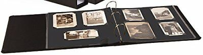 "Gaylord Archival 1 1/2"" D-Ring Photo Album Kit - Black Mounting Pages"