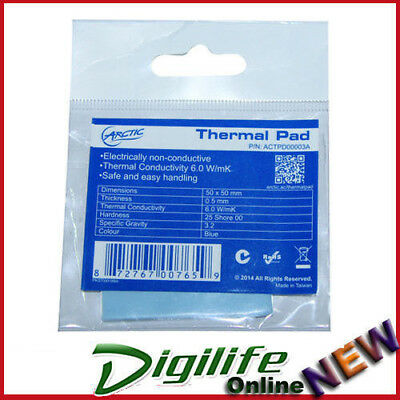 Arctic Thermal Cooling Pad 50mm x 50mm x 0.5mm High Performance Gap Filler