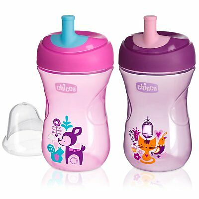 Chicco Natural Fit Straw Trainer Cup, Pink/Purple