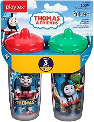 Playtex Sipsters Stage 3 Thomas The Train Spill-Proof, Leak-Proof, Break-Proof -