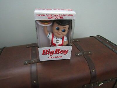 New NIB 2013 BIG BOY Restaurant Coin Piggy Bank Collectable Advertising SO CUTE
