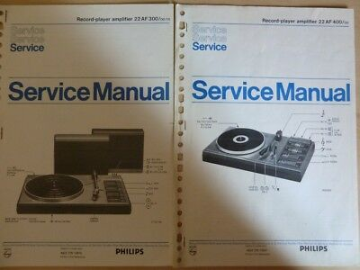 Doc. technique Tournes-Disques Philips série 22AF